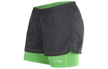 saucony Women's Destiny 2-1 Short black/green arrow
